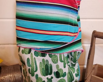 Swaddle Blanket - Fiesta Serape and Cactus