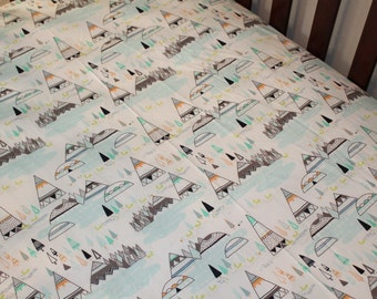 2 Day Ship - Fitted Sheet - Indian Summer, Crib, Twin, Bed Sheet