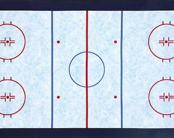 Ice Hockey Rink Contour Changing Pad Cover