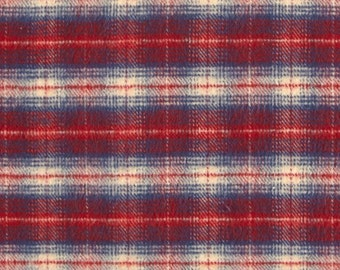 Plaid Contour Changing Pad Cover - Woodland, Red Navy Plaid