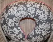 Items Similar To Ready To Ship Gray Elegance Damask And