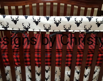 2 Day Ship - Buffalo Check Fitted Sheet- Red Black Buffalo Check, Cradle, Crib, Twin, Queen