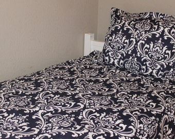 Twin, Full, Queen Comforter - Damask, you choose the color