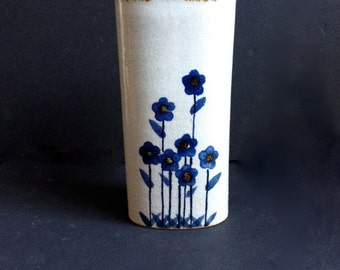 Vase with Blue Flowers