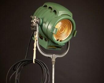 J. G. McAlister 1940's Hollywood Movie Keg Light: Vintage Theatre Light -  Antique Floor Light - Industrial Studio Spot Lamp