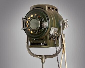Bardwell and McAlister 1960's Hollywood Movie  Keg Light: Vintage Theatre Light -  Antique Floor Light - Industrial Studio Spot Lamp