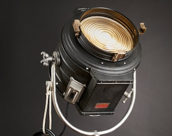 Bardwell and McAlister 1940's Vintage 2K Hollywood Movie Light: Vintage Theatre Light - Antique Floor Light - Industrial Studio Lamp