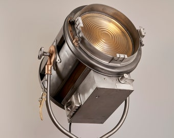 Vintage Mole Richardson 415 Senior Spot Hollywood Movie Light: Vintage Theatre Light - Antique Floor Light - Industrial Studio Lamp