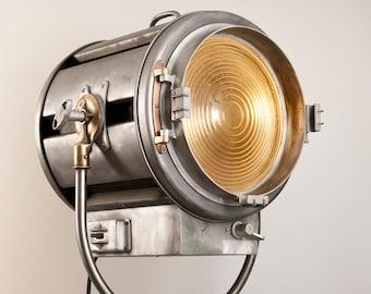 1960's Vintage Mole Richardson 415 Senior Spot Hollywood Movie Light: Vintage Theatre Light - Antique Floor Light - Industrial Studio Lamp