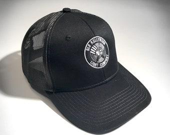 Embroidered JS Monogram Trucker Snapback Hat