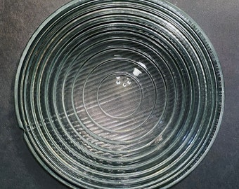 "Bardwell McAlister Type 610 vintage 10"" Fresnel Glass Lens [one large chip]"
