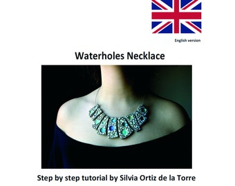 Waterholes Polymer Clay Necklace step by step tutorial. English Version
