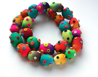 Polymer Clay Necklace Stomas