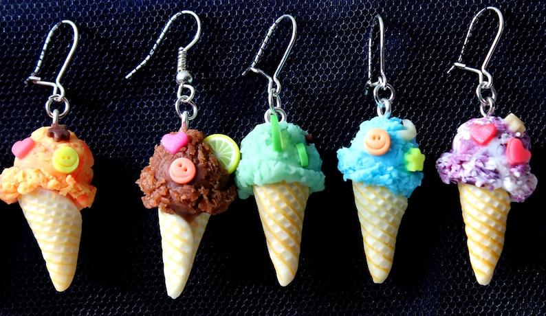 Polymer Clay Ice Cream Earrings