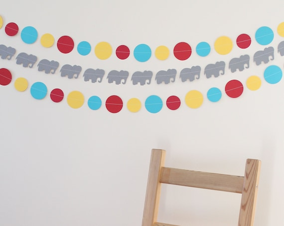 Carnival Party Decoration- paper garland, party decor, circus theme party- 3 PIECE KIT