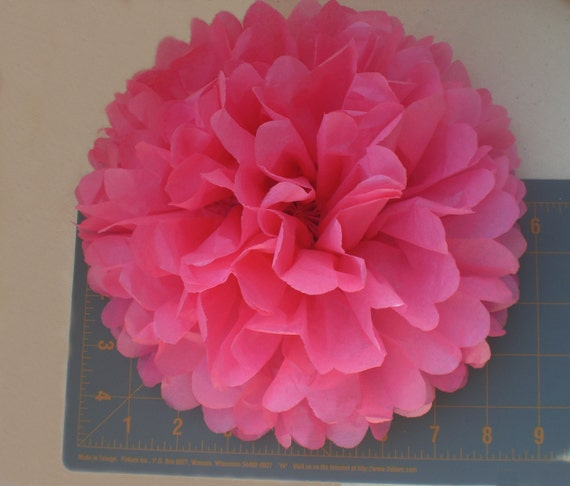 "7 Large Tissue Paper Flowers 9"" ...Party Decor, Wedding Reception Decor , Baby Shower Decorations, Rose - ANY COLORS"
