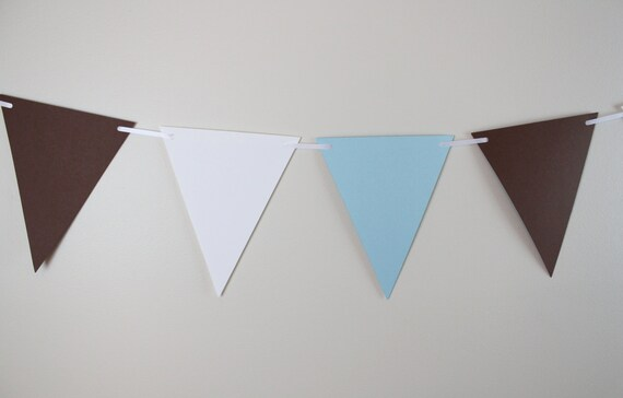 Baby shower decor, birthday decoration, baby shower, banner, blue, white & brown, photo prop, boy baby - 6 FEET LONG