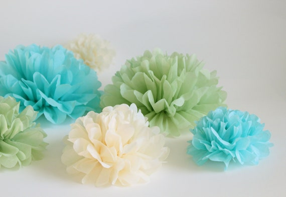 Tissue Paper Flowers- baby shower decor, wedding decor, bridal shower flowers, handmade paper flowers