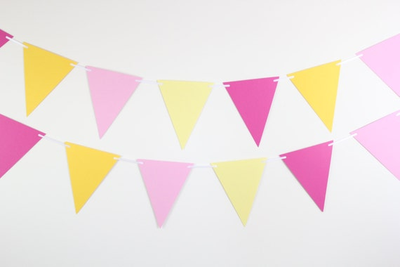 Pink Lemonade Birthday Decorations- birthday party decor, party banner, first birthday, bunting banner SET OF 2