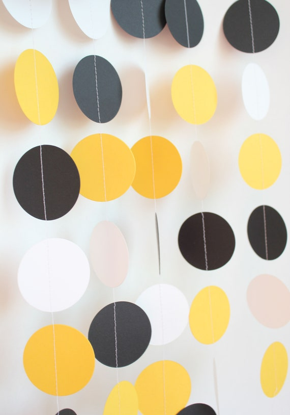 Bee Theme Baby Shower- Paper Garland, Baby Boy, Baby Shower Decoration, What Will it Bee? , Shower, Yellow, Black and White Baby Shower