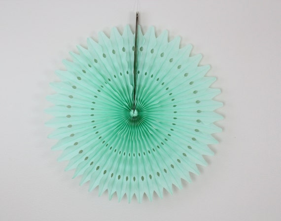 Mint green baby shower decor, baby showers, birthday parties, weddings, bridal showers, paper fan