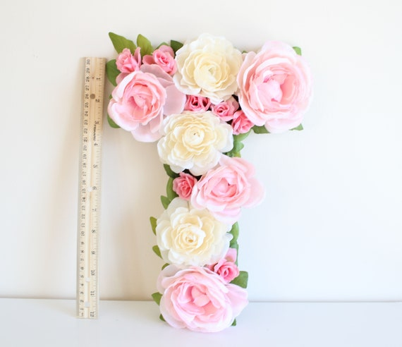 Floral Letter, baby shower decor, birthday decor, monogram letter, flower letter-Sweet Rose
