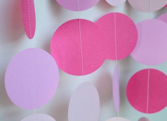 Birthday Garland, Birthday Party Decor, Pretty in Pink, Princess Party, Girl Birthday, Girl Baby Shower Decorations, 1st Birthday Decor