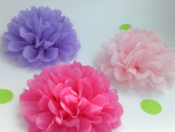 Custom Tissue Paper Flowers- Baby Shower Decor, Birthday Parties, Bridal Showers Wedding, paper flower, flower pom pom -Handmade in USA- 20