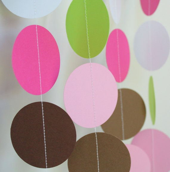 Baby Girl Baby Shower Decorations, Paper Garland, birthday parties, baby shower decor, birthday garland- 5ft Long