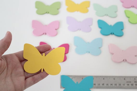 30 Butterfly Die Cuts- Card Stock Butterfly Cut Outs, Place Cards, Wedding Tags, Cupcake Toppers-PICK YOUR COLORS