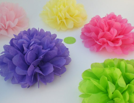 40 Tissue Paper Flowers (CUSTOM COLORS) Wedding Decor, baby shower Decoration, Birthday Party Decorations, Flower Party, Tea Party