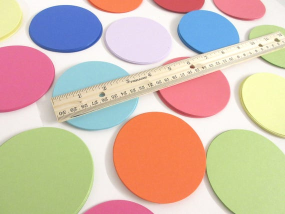 "3.25"" Cardstock Circles- 50, scrapbooking, favor tags, cupcake toppers, garland"