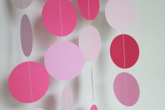 Baby Shower Decor- baby girl shower, paper garland, It's a girl, pretty in pink, balloon streamer, high chair banner