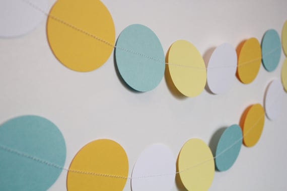 Paper Garland - Baby Boy Shower Decoration, Baby Shower, Birthday Party Decor- 10ft Long