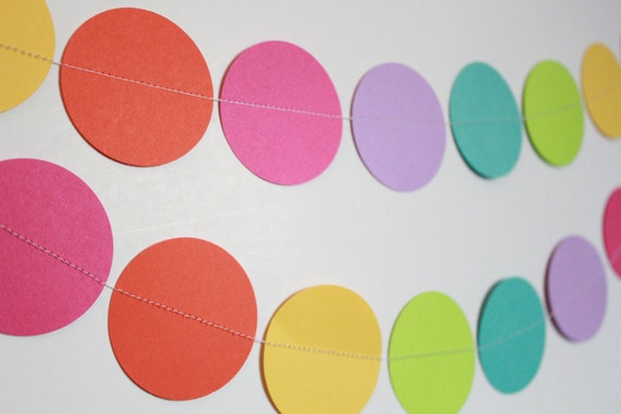 Paper Garland, Birthday Party Decoration, Party Decor, Rainbow Party Decorations, Unicorn Theme, Girl Birthday