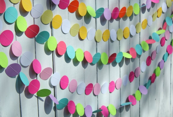 Paper Garland, Baby Shower Decoration, Baby Shower Garland, Shower Decor PICK YOUR COLORS