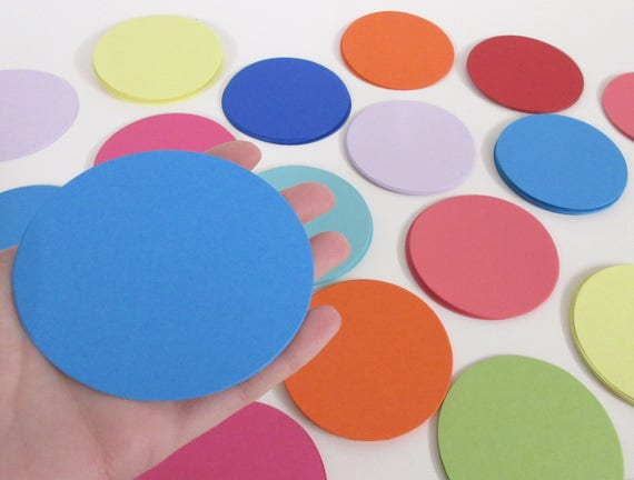 "3.25"" Die Cut Circles- 50, scrap booking, favor tags, cupcake toppers, garland,card stock, paper crafts, die cuts, paper circles,die cuts"