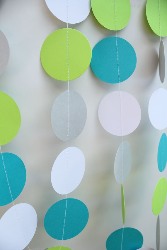 Baby Shower Decorations- Paper Garland, first birthday boy, boy baby shower decor, high chair banner -10 Feet Long