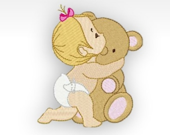 Baby Machine Embroidery Design - Baby Time 11