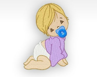 Baby Machine Embroidery Design - Single - Baby Time 1