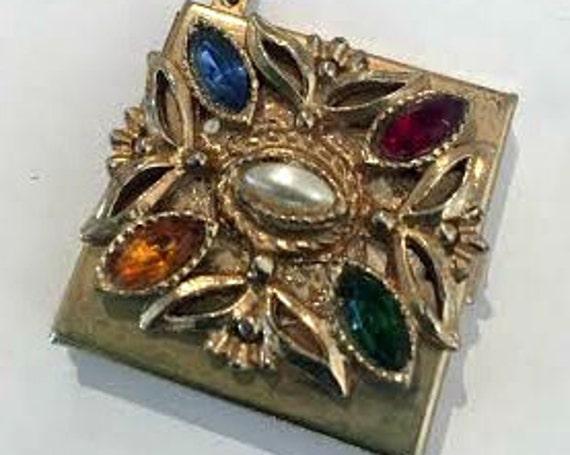 Vintage 1960s Picture Frame Locket Bracelet