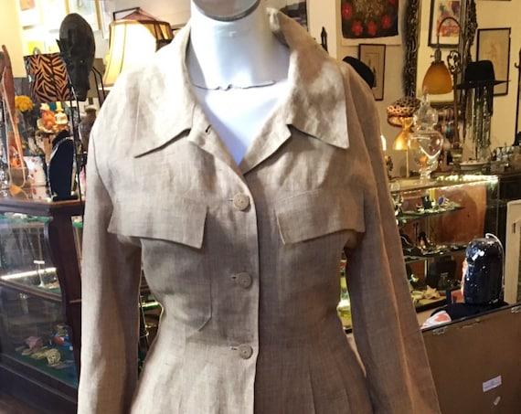 Vintage Chanel Linen Jacket amd Pants Size Small
