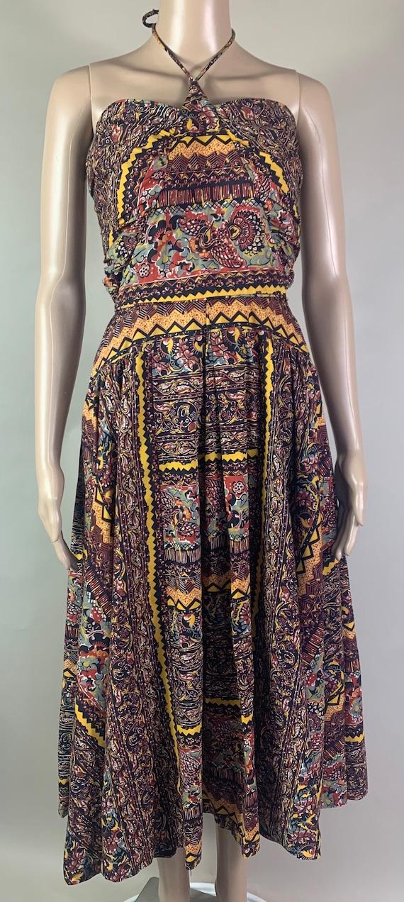 Vintage 1950s Sleeveless Summer Dress by Marjae of Miami Med