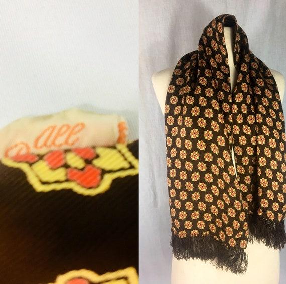 Vintage 1940s Men's Silk Opera Foulard Scarf