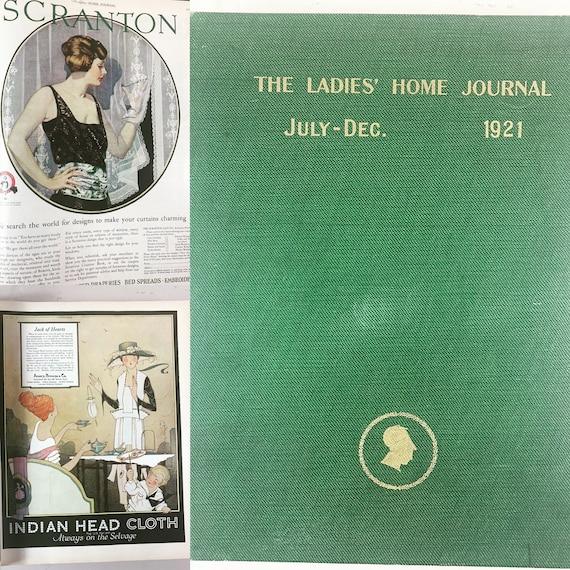 Bound copies of Ladies Home Journals 1921 July-Dec