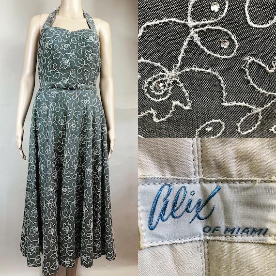 Vintage 1950s Alice of Miami Circle Dress Large