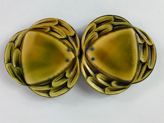 Vintage 1890s to 1900s XL Celluloid Belt Buckle