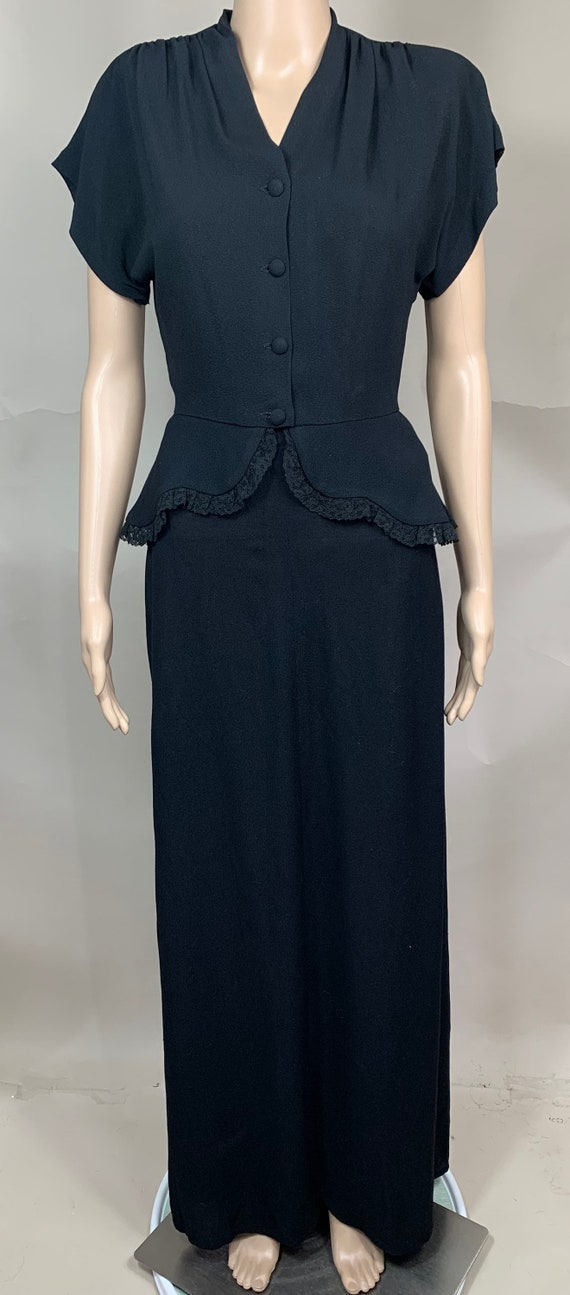 Vintage 1940s Top and Skirt Sm