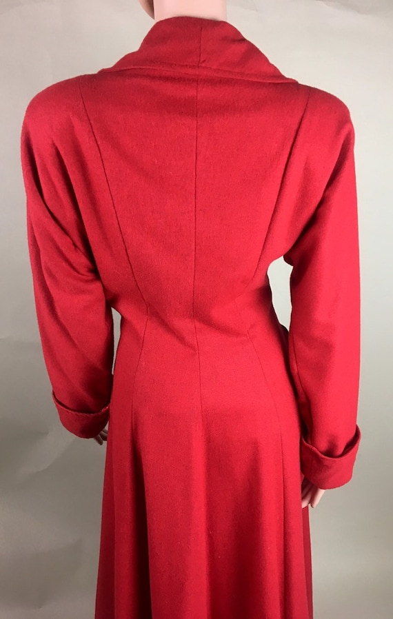 Vintage 1950s Cherry Red Lightweight Wool Princes… - image 2