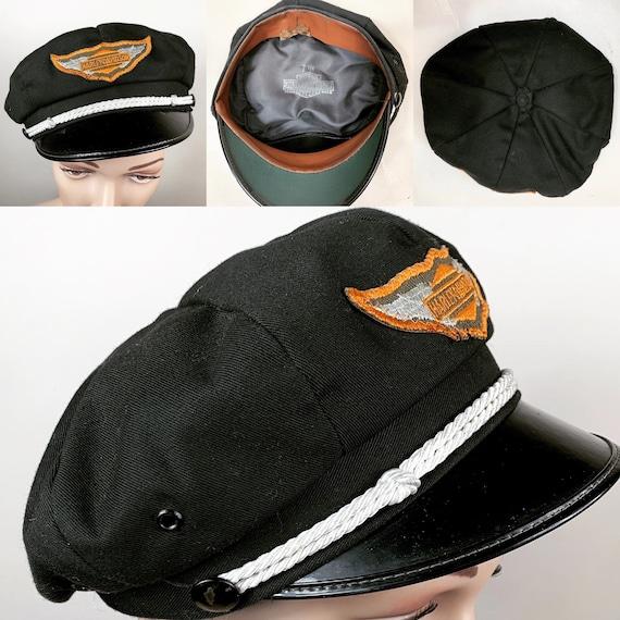 Vintage 1950s Harley Davidson Motorcycle Cap